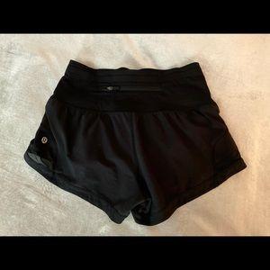 Lululemon size 2 speed up shorts limited edition